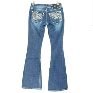 Miss Me Womens 27 Jean's Embellished Flare